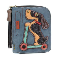Chala Dog Collection of Zip Around Wallets-Carry your cards in dog gone good style!