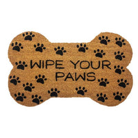 Wipe Your Paws Bone Shaped Coir Welcome Mat