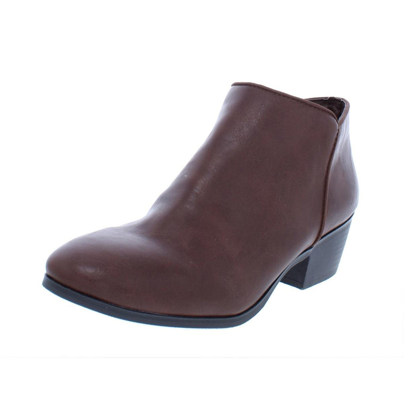 Style & Co Wylley Ankle Boots 8.5 Beige Micro Suede VEGAN or Cognac - The Pink Pigs, A Compassionate Boutique