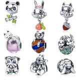 Animal Charms for Pandora Style Bracelets Sterling Silver Cow, Pig, Owl, Chipmunk-The Pink Pigs, A Compassionate Boutique