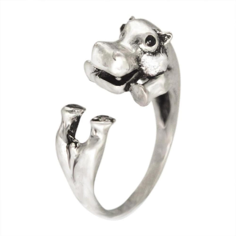 Animal Rings-Fun Fashion Rhino, Hippo, Gator, Dolphins, Hedgehog, Flamingo and Leopards! - The Pink Pigs, A Compassionate Boutique