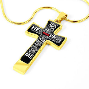 cross necklace psalm 23 gold