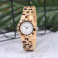 Bamboo/Wooden Jaguar/Leopard Watch for Ladies! Jaguars Fans LOOK!-The Pink Pigs, A Compassionate Boutique
