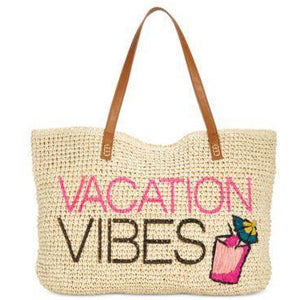 BEACH BAGS!  Get Ready for Vacation, Straw Beach Totes - The Pink Pigs, Fine Jewels and Gifts for People who Love Animals!