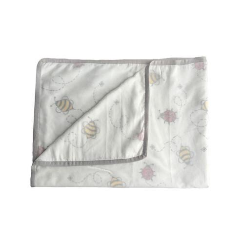 Bee & Bug Muslin Baby Blankie-HANDMADE, High Quality!-The Pink Pigs, A Compassionate Boutique