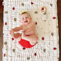 Bee & Bug Quilted Baby Blanket-Handmade, Beautiful Quality-The Pink Pigs, A Compassionate Boutique