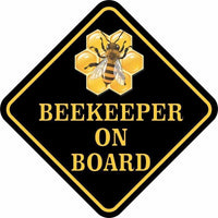 BEE KEEPER ON BOARD Sticker For the Bee Enthusiast in Your Life or YOU!-The Pink Pigs, A Compassionate Boutique