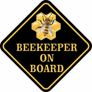 BEE KEEPER ON BOARD Sticker For the Bee Enthusiast in Your Life or YOU! - The Pink Pigs, Fine Jewels and Gifts for People who Love Animals!