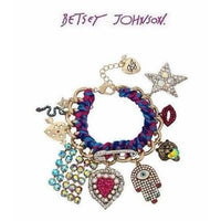 Betsey Johnson MYSTIC BAROQUE DRAMA Colorful Crystals & Stones Bracelet-The Pink Pigs, A Compassionate Boutique