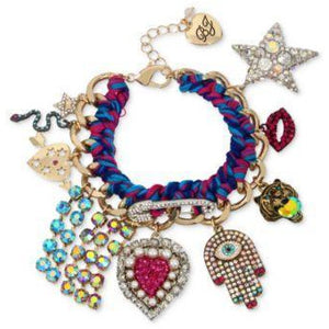 Betsey Johnson MYSTIC BAROQUE DRAMA Colorful Crystals & Stones Bracelet - The Pink Pigs, Fine Jewels and Gifts for People who Love Animals!