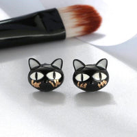 Cutest Black Cat Jewelry in solid Sterling Silver sure to Bring Smiles!-The Pink Pigs, A Compassionate Boutique