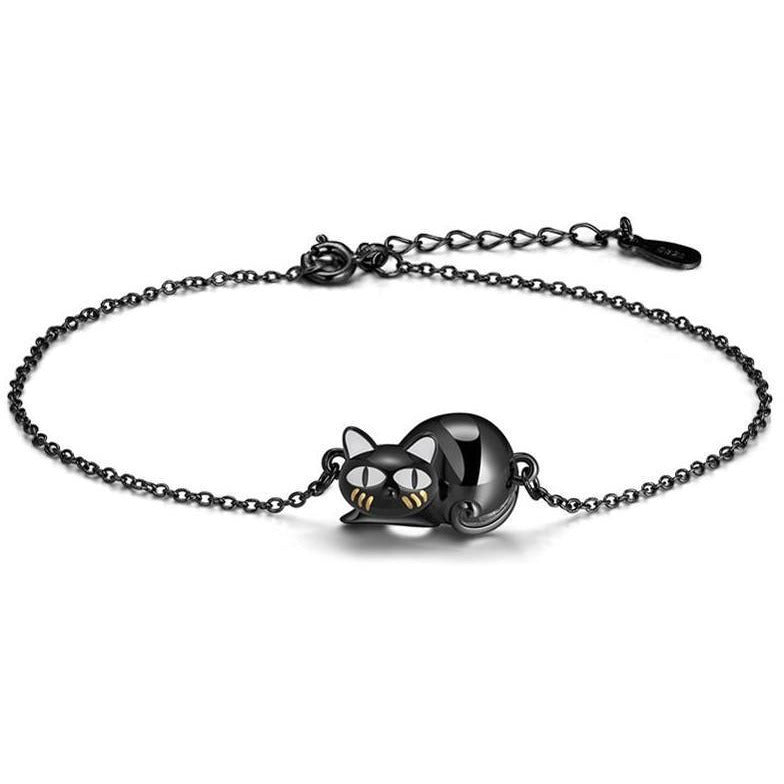 Black Cat Jewelry SET in 925 Silver, SO CUTE! Black Kitty Sure to Bring Smiles! - The Pink Pigs, Fine Jewels and Gifts for People who Love Animals!