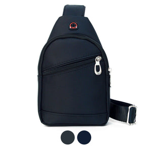 Black Crossbody Backpack Sling Bag for Men Vegan, Very Cool Bag!
