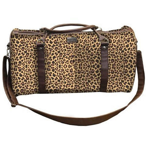 Born to be Wild Jane Marie Leopard Print Travel Totes