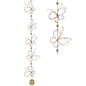 Garden Cascade Butterfly & Lotus Quintet Chimes by Woodstock Chimes - The Pink Pigs, Fine Jewels and Gifts for People who Love Animals!