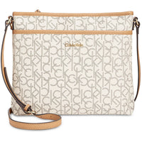 Calvin Klein Large Signature Crossbody Handbag-Vegan! Helps Animals!-The Pink Pigs, A Compassionate Boutique