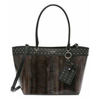 Calvin Klein Susan Snake Skin Pattern Small Tote-Vegan-The Pink Pigs, A Compassionate Boutique