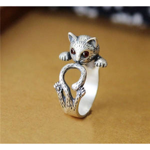 Cat Rings, Alloy or Solid 925 Sterling Silver.  Spread Smiles Wherever you Go!  Three colors - The Pink Pigs, Fine Jewels and Gifts for People who Love Animals!