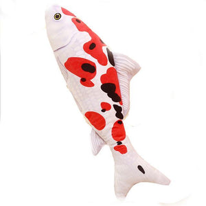 Koi Fish Shape Cat Toys with Catnip Plush Stuffed Fishes Interactive Cat Chew Toys  Magic the Cat APPROVED! - The Pink Pigs, Fine Jewels and Gifts for People who Love Animals!