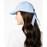 Inc International Concepts Gingham Bow-Back Baseball Cap (Light Blue, One Size)-The Pink Pigs, A Compassionate Boutique