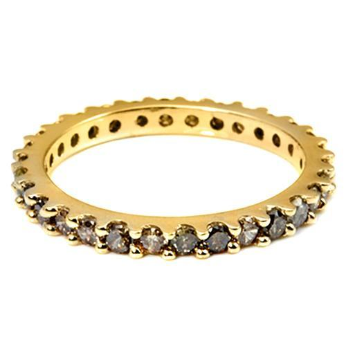 Chocolate Diamond Eternity Ring in 14K Yellow Gold-Stunning! - The Pink Pigs, Fine Jewels and Gifts for People who Love Animals!