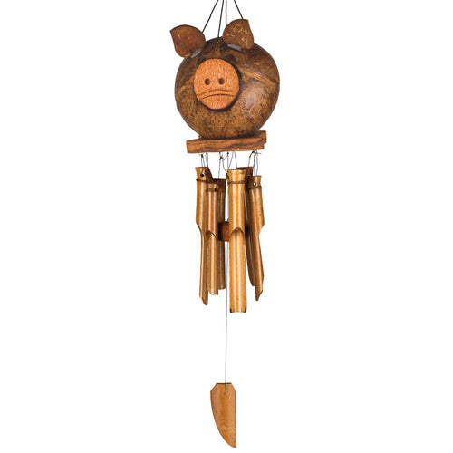 Coco Pig or Black Bear Bamboo Chimes by Woodstock Chimes