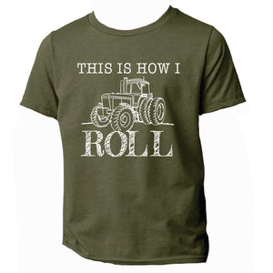 "Country Boys ""This is How I Roll"" Tractor T-Shirt Green"