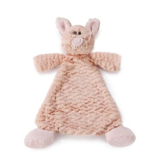 COW or PIG RATTLE BLANKIE-Sweet and SOFT for babies! (AND CUTE!)-The Pink Pigs, A Compassionate Boutique