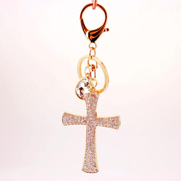Cross Keychain, Beautifully Sparkly with 2.5
