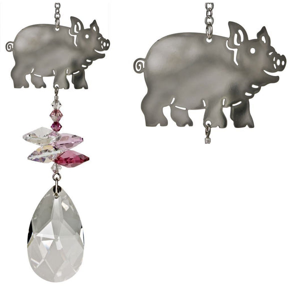 FAVORITE Farm Animals as Beautiful Suncatchers! Crystal Fantasy - The Pink Pigs, A Compassionate Boutique