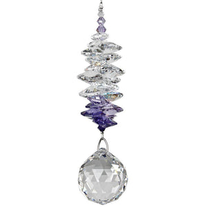 Crystal Grand Cascade Purple - The Pink Pigs, Fine Jewels and Gifts for People who Love Animals!