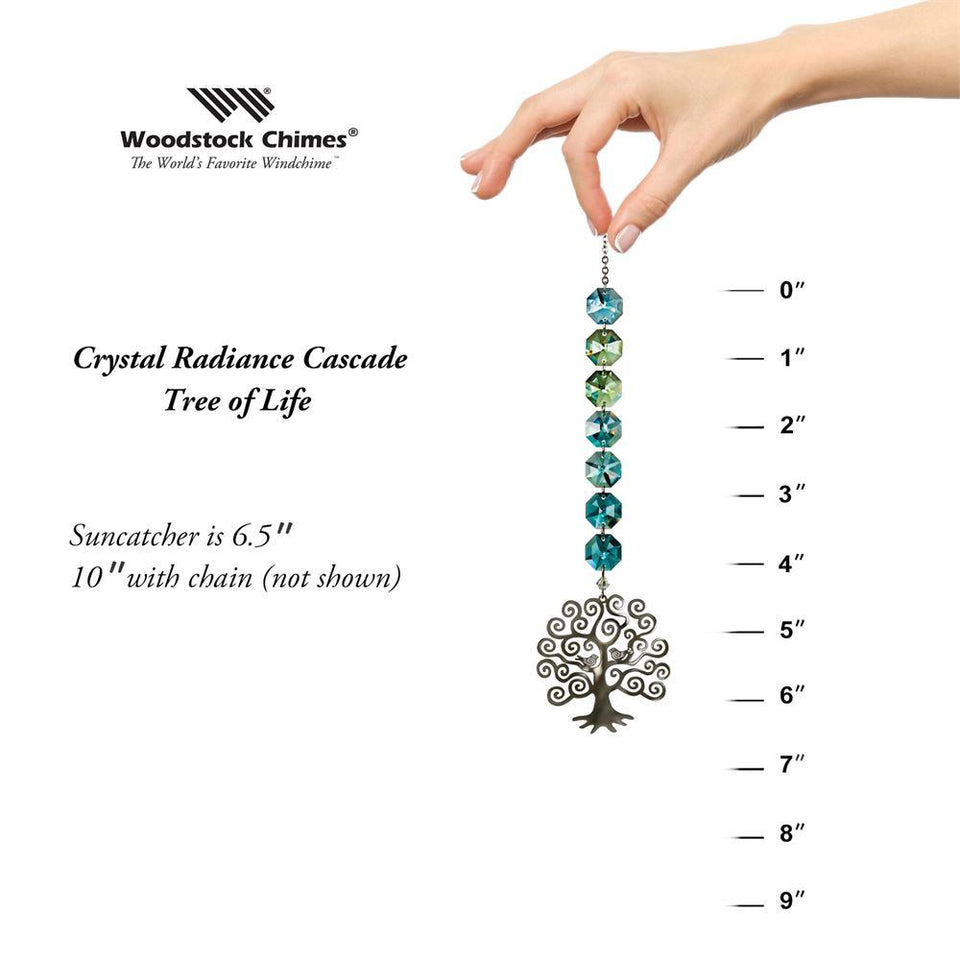 Crystal Radiance Tree of Life-Swarovski Crystal Suncatcher