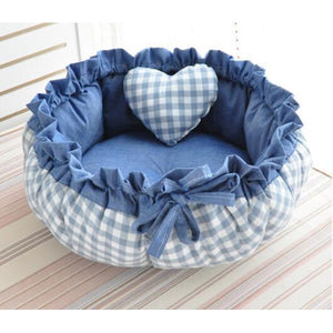 Cutest Pet Cuddler Bed with Pillow, Adorable.  Reversible-mat or cuddler