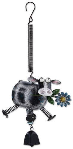 Silly Cow Bouncy Ornament - The Pink Pigs, A Compassionate Boutique