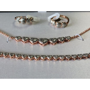 Designer Jewelry SET, Silver or Rose Gold Plated with REAL Diamond Accents - The Pink Pigs, Fine Jewels and Gifts for People who Love Animals!