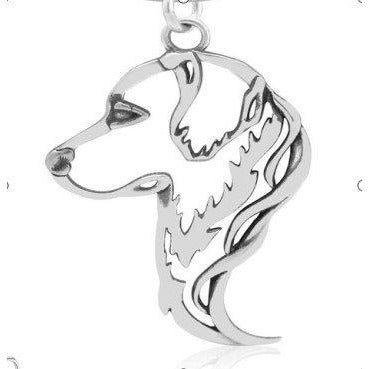 Dog Necklace-Solid Sterling Silver Cut Out Dog Necklace for Dog Lovers-The Pink Pigs, A Compassionate Boutique
