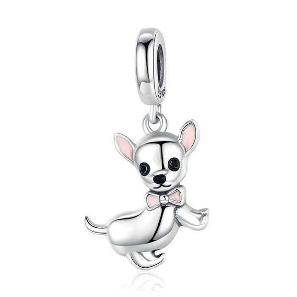 Dog Pandora Style Charms Sterling Silver Boston, Frenchie, Chi, Schnauzer, Puppy-The Pink Pigs, A Compassionate Boutique