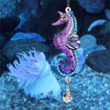 Dolphin, Seahorse or Coral Fish Sun catchers-Rainbow Makers! Hand Made with Swarovski Crystal-The Pink Pigs, A Compassionate Boutique