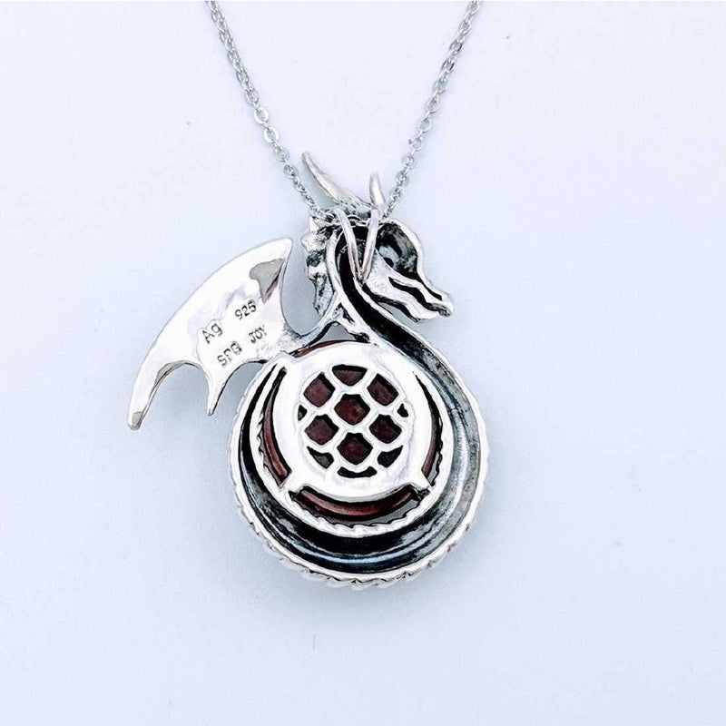Dragon Necklace and Ring-Sterling Silver Game of Thrones Fans! - The Pink Pigs, A Compassionate Boutique