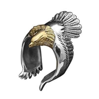 Eagle Men's Ring, Punk Men's Ring, very Unique! For the Biker or Patriot!-The Pink Pigs, A Compassionate Boutique