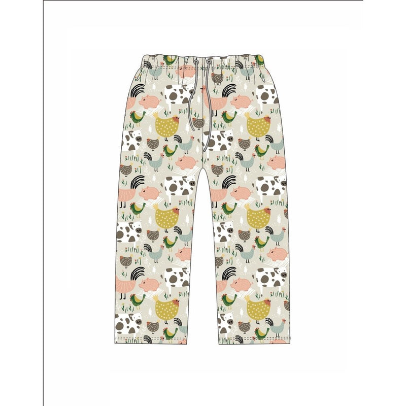Farm Animal PJ Bottoms & Face Masks by Jane Marie, Egyptian Cotton/Spandex - The Pink Pigs, A Compassionate Boutique
