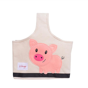 Fun Animal Canvas Tote Bag with Compartments for the Busy Moms! - The Pink Pigs, Fine Jewels and Gifts for People who Love Animals!