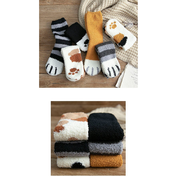 Fuzzy Sherpa Cat Paw Socks-Cutest Cat Socks EVER! ALL Proceeds Help Rescued Animals! - The Pink Pigs, A Compassionate Boutique