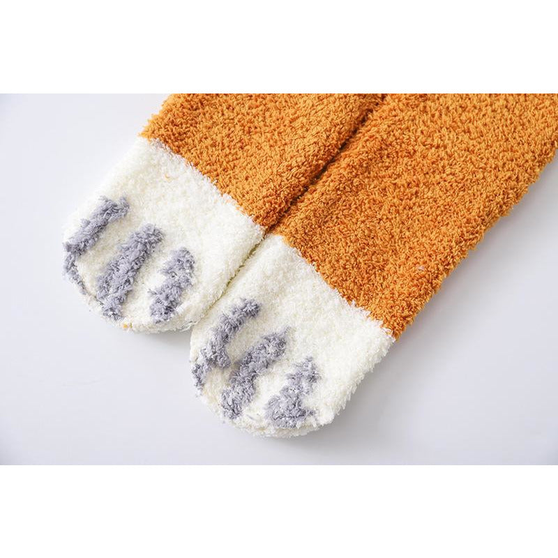 Fuzzy Sherpa Cat Paw Socks-Cutest Cat Socks EVER!  ALL Proceeds Help Rescued Animals!