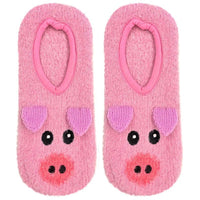 Fuzzy Slipper Socks, Pig, Cat, Dog, Unicorn, Llama, Cow & More!-The Pink Pigs, A Compassionate Boutique