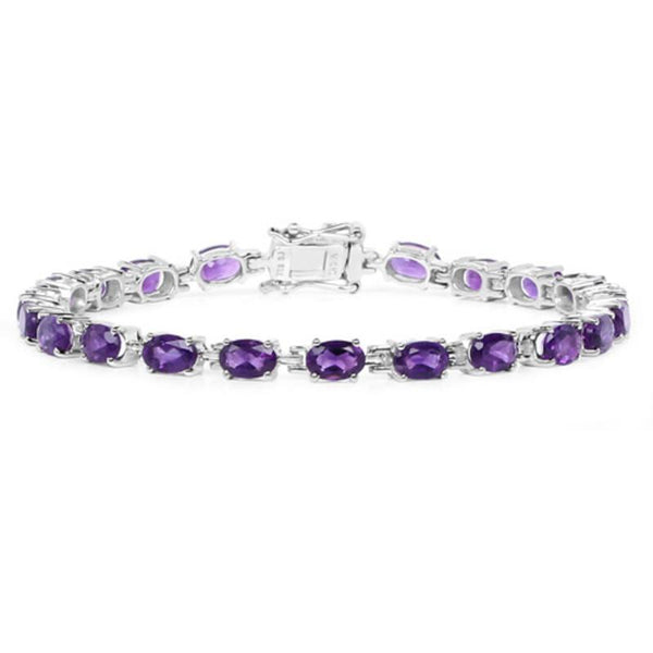 Gemstone Bracelets in Sterling Silver-Amethyst, Sapphire, Peridot and MORE!-The Pink Pigs, A Compassionate Boutique