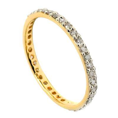 Genuine Diamond Eternity Rings in Solid 10K Yellow or White Gold .18ctw - The Pink Pigs, Fine Jewels and Gifts for People who Love Animals!
