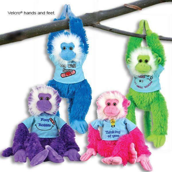 Get Well Monkeys Hanging Well Wishes for Loved Ones Under the Weather-The Pink Pigs, A Compassionate Boutique
