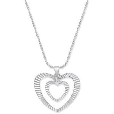 Giani Bernini Sterling Silver Heart Necklaces, 2 styles-Beautiful Gift! 50% OFF Retail!-The Pink Pigs, A Compassionate Boutique