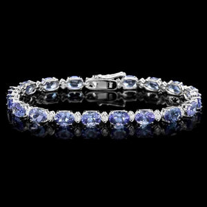 Gorgeous Deep Blue Tanzanite Bracelets in 14K Yellow or White Gold, Perfect Gifts! - The Pink Pigs, Fine Jewels and Gifts for People who Love Animals!